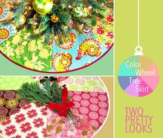 Color Wheel Patchwork Tree Skirt | Sew4Home