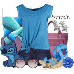 """Stitch - Summer - Disney's Lilo and Stitch"" by rubytyra on Polyvore"