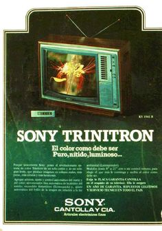Radios, Sony, 80s Trends, Color Television, Cool Tech, Old Ads, Vintage Advertisements, Retro Vintage, Nostalgia