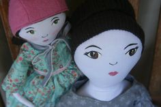 Jane Eyre and Adele. Charlote Bronte inspired dolls by ViaJoy