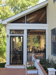 Screened Porch Sanctuary - traditional - porch - chicago - by Your Favorite Room. Screened Porch S Enclosed Porches, Decks And Porches, Outdoor Rooms, Outdoor Living, Outdoor Kitchens, Outdoor Patios, Outdoor Sheds, Screened Porch Designs, Screened Porches