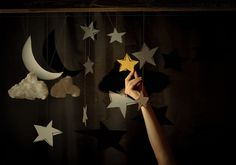 moon and stars Sun Moon Stars, Sleeping Under The Stars, Paper Moon, Tumblr, Baby Boy Rooms, First Day Of School, Twinkle Twinkle, Superhero Logos, Stuff To Do