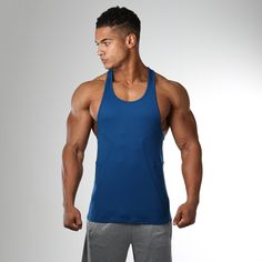 Gymshark Element Stringer - Atlantic Blue