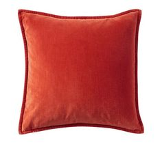"""Washed Velvet Pillow Cover in ember, 20"""", $29.50 -- machine washable"""
