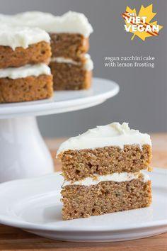 Vegan Zucchini Cake with Lemon Frosting   The Viet Vegan