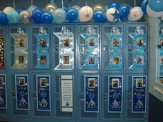 Decorate your volleyball teams locker room.