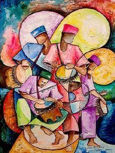 Music Art, Legend of Drums: Path of Joy , Chidi Okoye, World Music Art Prints, Jazz Print, music art pic62