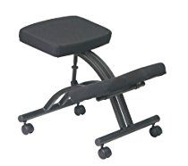 Work Smart Ergonomically Designed Knee Chair with Casters and Memory Foam