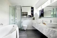Marble with grey and white tiles