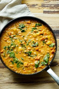 Vegan Coconut Chickpea Curry Recipe with Sweet Potato, Carrots, Turmeric, Spinach