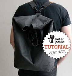 Ratz-Fatz backpack made of SnapPap with instructions and pattern .- Casual backpack made of SnapPap including instructions and sewing pattern // Backpack / Tutorial / Freebie / DIY Backpack Tutorial, Diy Backpack, Unique Handbags, Purses And Handbags, Mochila Tutorial, Sewing Tutorials, Sewing Patterns, Ribbon Yarn, Diy Handbag