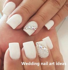 35 Simple Ideas for Wedding Nails Design #naildesigns