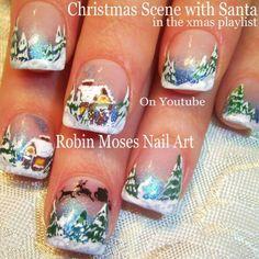 #christmasnails #winterwonderland #snow Up today on YouTube! https:www.youtube.com/user/robinmosesnailart #nailart #nailswag #nailstagram #ignails #instahub #iggirls #Inspiration #thomaskinkade