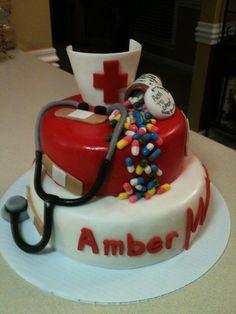 Nursing Cake.... I had so much fun making this cake.  One of my favorites.