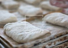 Ciabatta bread roll dough. by Stock Disrupt - Microstock that Matters.
