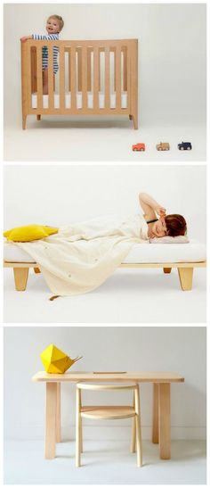 Clean, durable, contemporary kids furniture