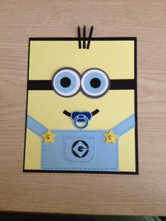 Beautiful Baby Boy Minion Baby Shower Announcements By DisneyPaperCreations