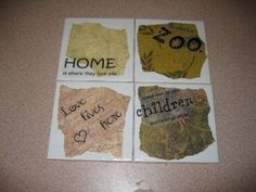 new coasters--- joy :)  #coaster #modpodge #diy #craft #home