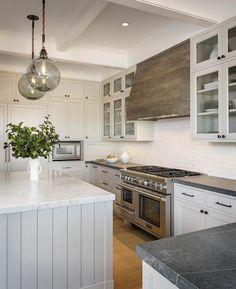 Reclaimed Wood Kitchen Hood, Transitional, Kitchen, Sutro Architects