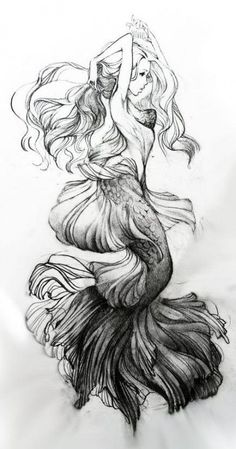 Are you looking for the best ocean tattoos? Below, we've come up with a roundup of the most loved ocean tattoos. Mermaid Sketch, Mermaid Drawings, Mermaid Tattoos, Mermaid Art, Mermaid Thigh Tattoo, Mermaid Tattoo Designs, Trendy Tattoos, Unique Tattoos, Small Tattoos
