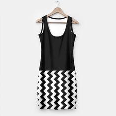 Black and White Chevron Dress by Elena Indolfi Style #Liveheroes