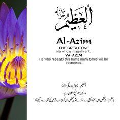 Al Asma Ul Husna 99 Names Of Allah God. The 99 Beautiful Names of Allah with Urdu and English Meanings. Beautiful Names Of Allah, Beautiful Quran Quotes, Islamic Love Quotes, Islamic Inspirational Quotes, Allah God, Allah Islam, Islam Hadith, Islam Quran, Asma Allah