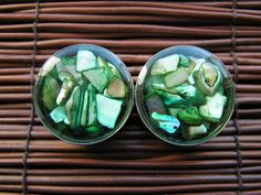 Green Shell Resin Plugs  4g 2g 0g 00g by PullThePlug on Etsy, $19.99