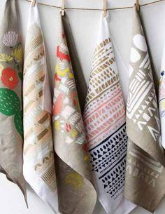 Crazy beautiful tea towels