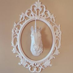 Find This Pin And More On White Faux Taxidermy At Home Deer To Unicorn