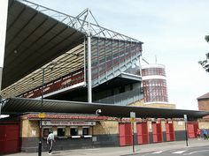 North Bank stand from Avenell Road