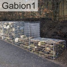 As gabion wall gets taller stepped foundation goes to 2 gabions tall http://www.gabion1.co.uk