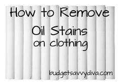 How To Remove Grease and Oil Stains on Clothing