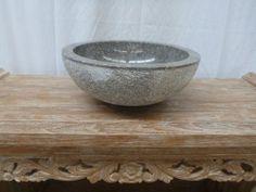 Balinese Marble Stone Bathroom Round Basin Sink Bowl 40cm No. D13