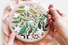Types Of Embroidery, Silk Ribbon Embroidery, Modern Embroidery, Hand Embroidery Patterns, Embroidery Kits, Cross Stitch Embroidery, Embroidery Designs, Flower Embroidery, Sewing Crafts