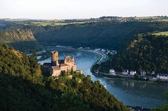 Rhine River Cruise //  You'll experience the thrill of traveling along one of Europe's oldest commercial waterways, at one time bordered by the castles of robber barons & their toll stations. There's no chance of missing the charm of a trip up the Rhine!