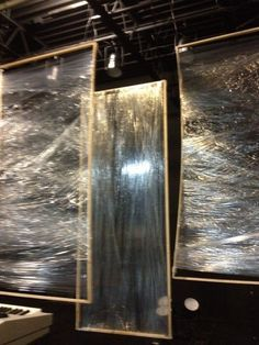 stage ideas... PVC & plastic cling wrap.... use color can lights at bottom.... to color stage....