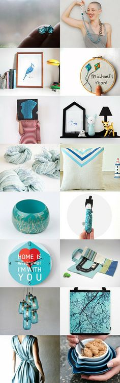 Blue and Green by Camilla Agathe Lande Jensen on Etsy--Pinned with TreasuryPin.com