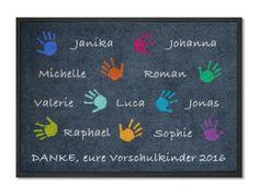 Weiteres - mattilde KITAmatte Hände + Namen 120x85cm,waschbar - ein Designerstück von mattilde bei DaWanda