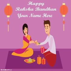 Write Your Name On Boys And Girls Happy Raksha Bandhan Festival Celebration Day Wishes Name Pictures, Online Photo Editing Happy Rakhi Day Name Images Free, Created Your Any Custom Name Text On Beautiful Brothers And Sisters Latest Greeting And Wishes Name High Quality Wallpapers Download Happy Raksha Bandhan Wishes, Happy Raksha Bandhan Images, Raksha Bandhan Greetings, Raksha Bandhan Pics, Raksha Bandhan Quotes, Rakhi Day, Wedding Anniversary Quotes, Anniversary Cards, Celebration Day