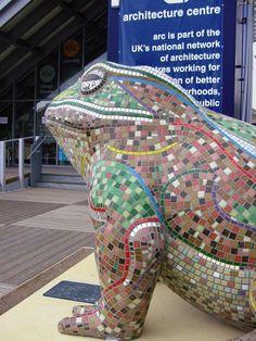 Mosaic Art Frog.