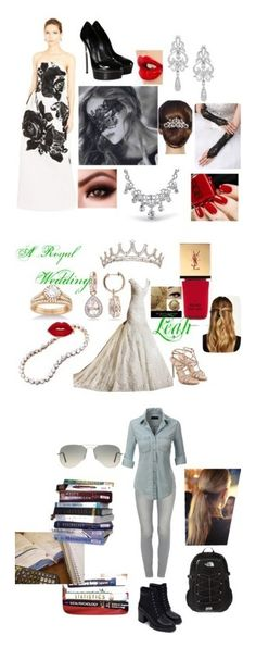 """""""Leah Collection"""" by faeryrain on Polyvore featuring Oscar de la Renta, Casadei, Charlotte Tilbury, Wrapped In Love, 16 Braunton, Bling Jewelry, Paul Andrew, Allurez, Yves Saint Laurent and Natasha Accessories"""