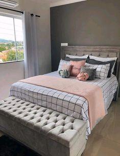Cute Bedroom Ideas, Cute Room Decor, Room Ideas Bedroom, Girl Bedroom Designs, Teen Room Decor, Small Room Bedroom, Home Decor Bedroom, Home Room Design, Stylish Bedroom