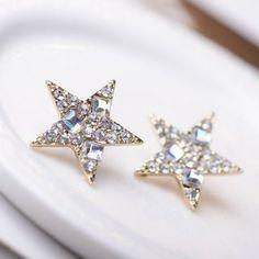 Brilliant Full Rhinestone Star Earrings   LilyFair Jewelry, $10.99!