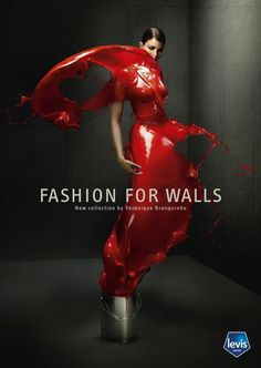 "Levis Print Ad | ""Fashion For Walls"""