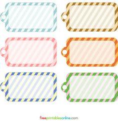 Free Printable (4 tipos diferentes, no sólo estos). @ http://www.facilysencillo.es/2011/09/free-printable-4-etiquetas-diferentes-4.html