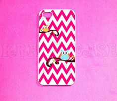 iPhone 5 case Owl with chevron pattern iPhone 5 Case by KrezyCases, $15.95