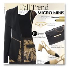 """New Trend: Micro Mini Skirts"" by beebeely-look ❤ liked on Polyvore featuring Joseph Ribkoff, Balmain, Michael Kors, Chanel, Irene Neuwirth, AERIN, balmain, premiereavenue, JosephRibkoff and mikrominis"