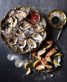 oysters and seafood from Booths Christmas book 2014 by smithandvillage.com. Photography by Craig Robertson and food styling by Angela Boggiano