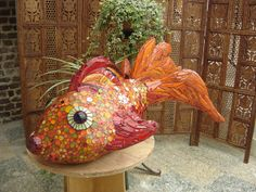 bubble fish sculpture mosaic by mozaiktoone, via Flickr