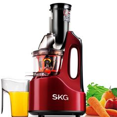 SKG Wide Chute Anti-Oxidation Slow Masticating Juicer AC Motor, 60 RPMs, Big Mouth) - Vertical Masticating Cold Press Juicer - Fathers Day Gifts From Fruit Juice Machine, Best Masticating Juicer, Best Juicer Machine, Juicer Reviews, Centrifugal Juicer, Cold Press Juicer, Detox Juice Recipes, Juice Extractor, Best Detox